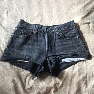 Levi 501 vintage high waisted shorts Black size 25